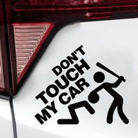 OTOKIT 3D Funny Dont Touch My Car Reflective Waterproof Vinyl Sticker And Decals For Motorcycle BMW VW Ford Toyota Honda Fiat