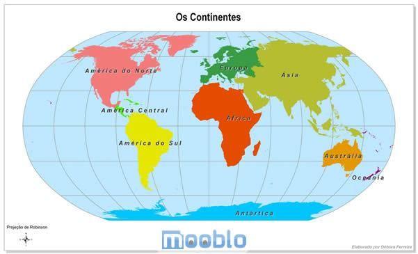 Clique para ver o Mapa Mundi Continentes maior