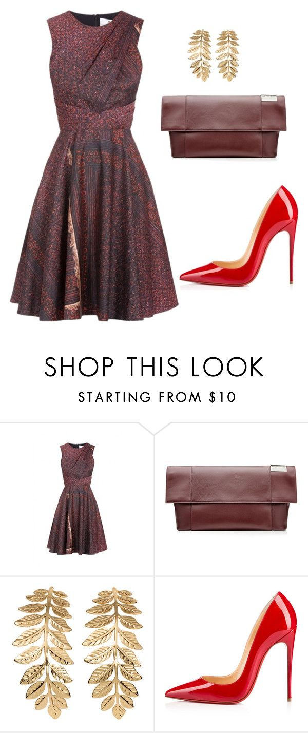 """""""style theory by Helia"""" by heliaamado on Polyvore featuring moda, Prabal Gurung, Victoria Beckham, H&M e Christian Louboutin"""