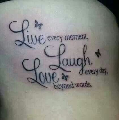 live laugh love tattoo