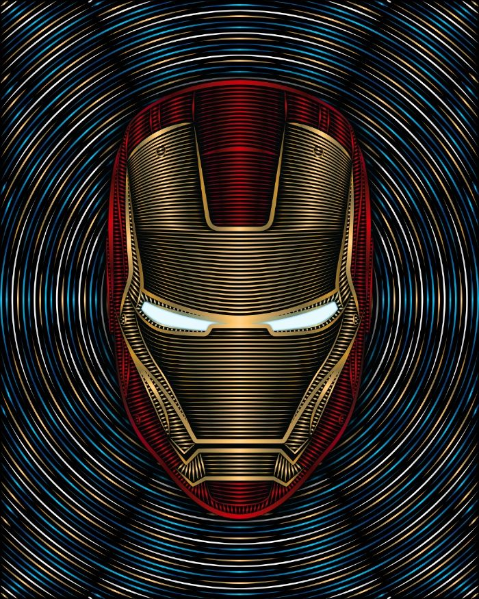 Iron Man - Arc Reactor Art Print by Nathan Owens