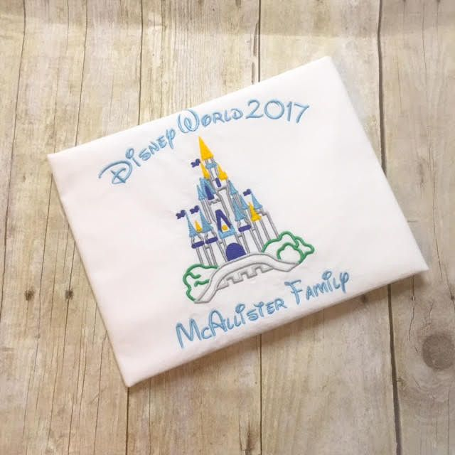 Princess Castle Autograph Pillowcase, Shirt or Bodysuit - Girls Castle Shirt