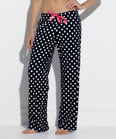 Take a look at this Black Dots Wear it Plush Pajama Pants - Women by TART Collections on #zulily today!