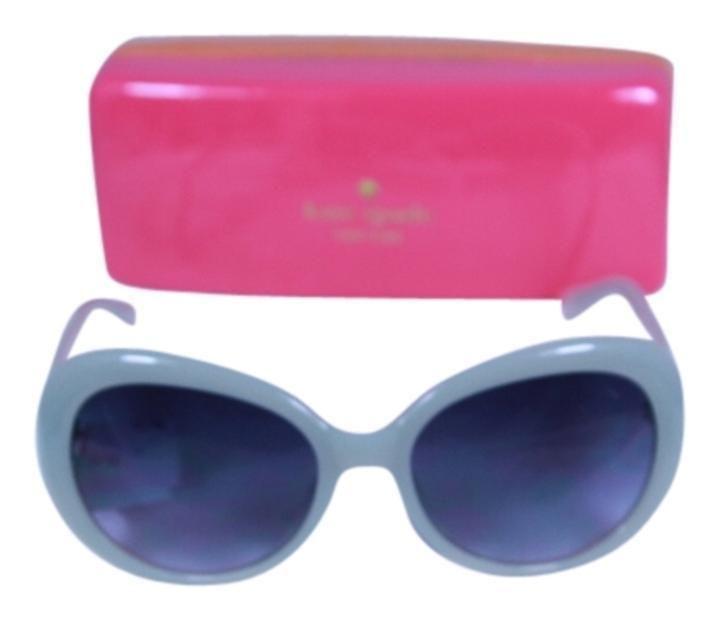 Kate Spade UMA O/S 0X86 Light Gray Oversized Women's Sunglasses NEW $128 #katespade #OversizedRound