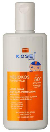 Bebés y Niños : Heliokos Leche solar muy alta protección Pediátrica FP 50+ Protector solar
