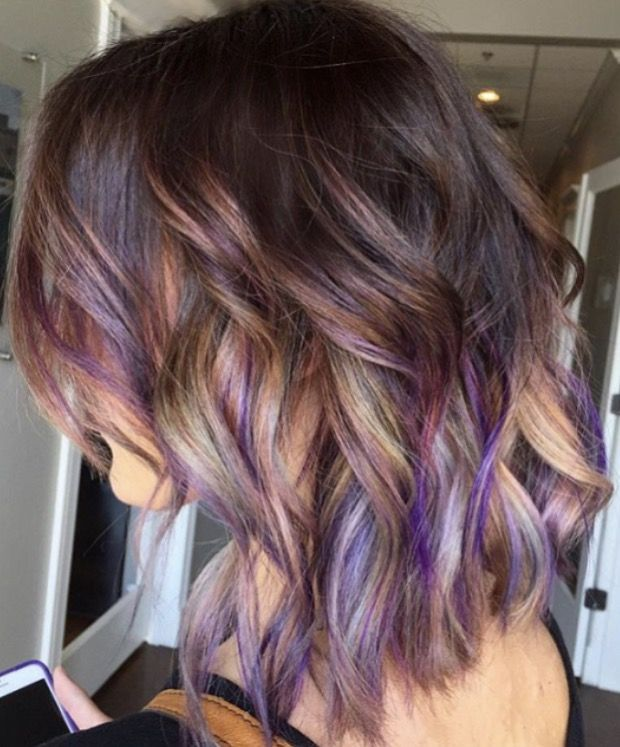 The 25 best brown hair with purple ideas on pinterest brown brown hair with purple grey and blonde pmusecretfo Choice Image
