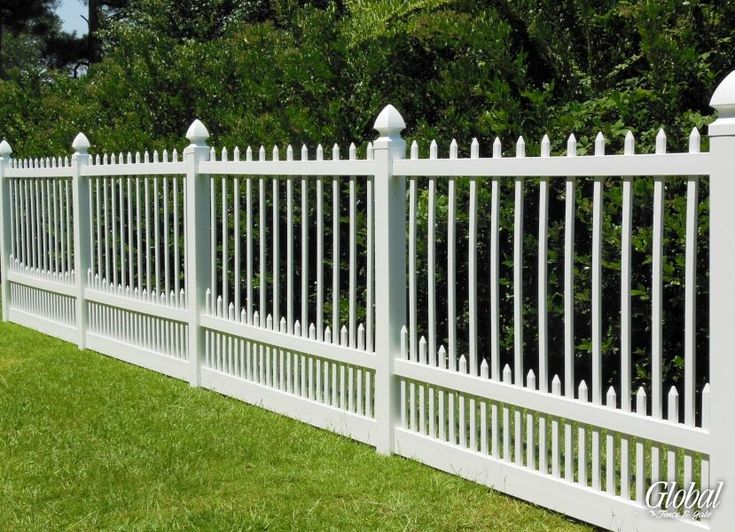 6 Ft Tall Vinyl Picket Fence In 8 Foot Sections Boring