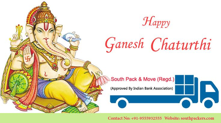 May Lord Ganesh bring you good luck, Happiness and prosperity! Happy Ganesha Chaturthi.. Visit for more:- http://www.southpackers.com/movers_and_packers_in_vaishali.html