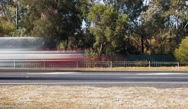 (6263) L1M2AS3: S Mode, Blurred Motion. Travelling car blurred through space. 1/2.5sec, f/36, ISO 200, no flash, tripod, 53mm, (18mm-55mm lens)