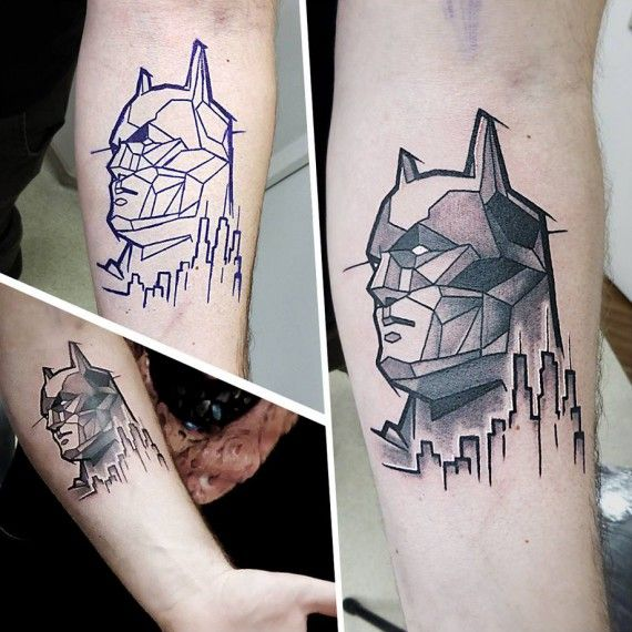 Tatouage Batman #09