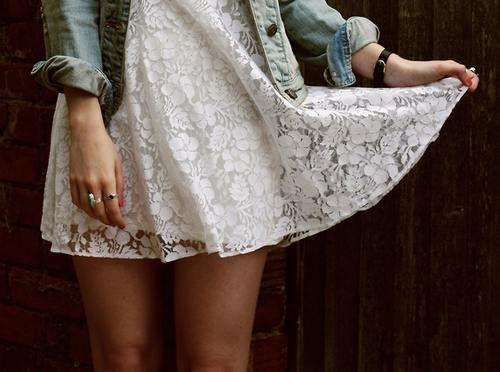 lace: Summer Dresses, Fashion, Cowboy Boots, Style, Jeans Jackets, Cowboyboots, Outfit, White Lace Dresses, Denim Jackets