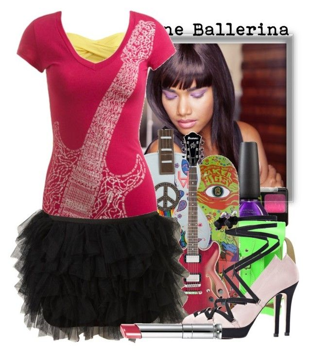 """Scene Ballerina♥"" by tshirtsuperstar41 ❤ liked on Polyvore featuring Lancôme, Hot Topic, OPI, The Cambridge Satchel Company, Daydreamer, Wet Seal, Christian Dior, neon, ballerina and tutu"