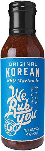 WE RUB YOU Original Korean BBQ Marinade  Sauce *** AMAZON Great Sale