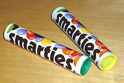 Smarties in their original tube and the lid always had a letter on the inside. Loved them then, still love them now.