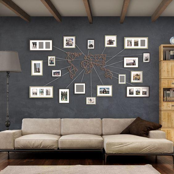 Notre Decoration Murale Metal De Carte Du Monde En Bronze Disponible