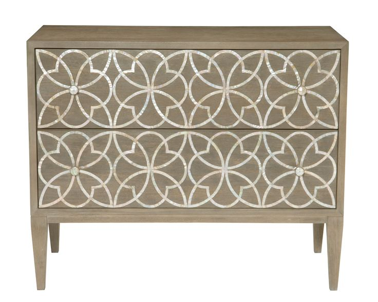 353-116 Jewell Drawer Chest | Bernhardt W 40 D 18 H 32.5 Mother of Pearl Inlaid $2902.50 #3Foot