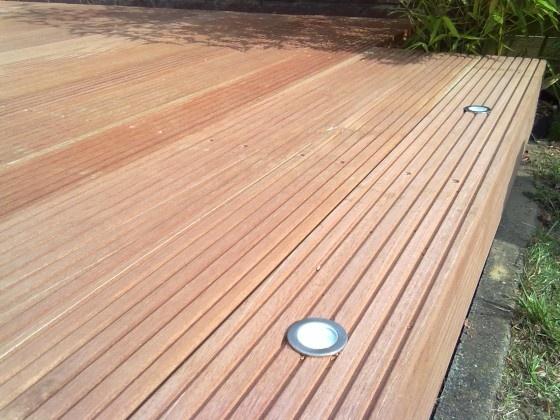 #Bankirai Holz mit Spot  #Idee  #Planung und Ausführung www.ericclassen