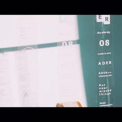 ADER logo tape #ader#adererror