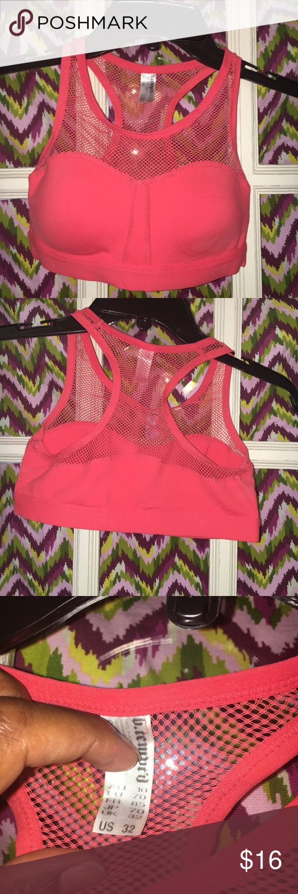 B.Tempt'd by Wacoal Mesh Bra Orange B.tempt'd by Wacoal mesh bra. Size 32 fits a 32A, 32B, or 32C bra size. Great for anytime you want to show off your goods. Wear it with a low cut top, out dancing or to a low impact workout. VGUC Wacoal Intimates & Sleepwear Bras