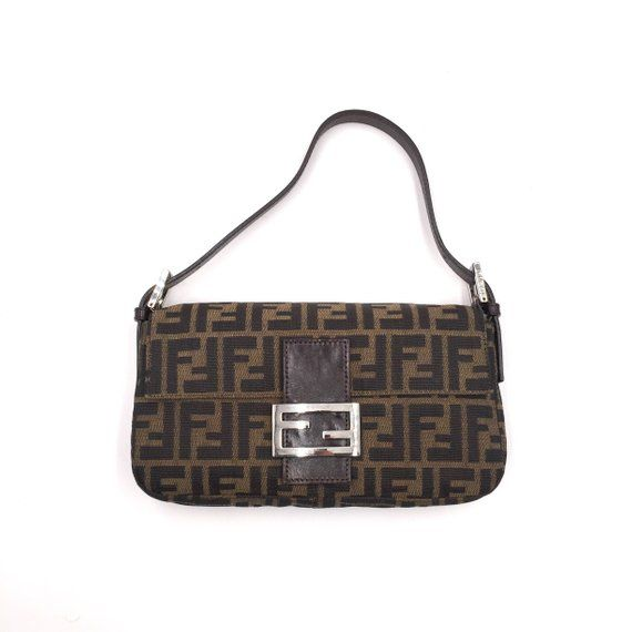 79cd50b6b8 Authentic Vintage Fendi Zucca Baguette Bag | Fendi Vintage Bag ...