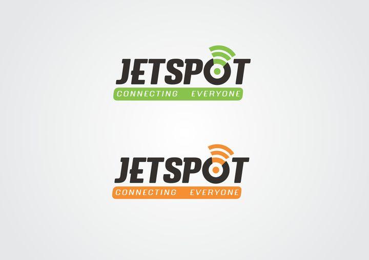 Logo with color variations for Jetspot, a wireless broadband service provider | Designer: Ranshik www.crowdstudio.in
