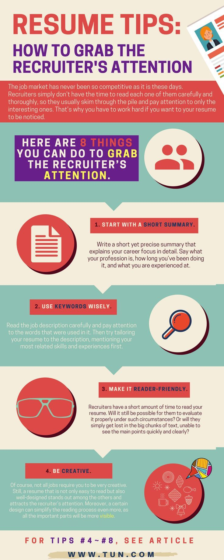 8 things you can do to grab the recruiter's attention - get your resume picked up and read!