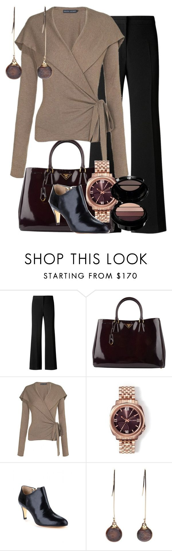 """""""Couture Chic Designs-Outfit"""" by jgalonso ❤ liked on Polyvore featuring Gérard Darel, Prada, Ralph Lauren Blue Label, Vince Camuto, Ted Baker, Gems by Emily Howell, Giorgio Armani, couture chic designs and jgalonso"""