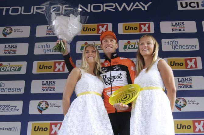 Stage 2 winner Pieter Weening (Roompot Oranje Peloton) Tour of Norway