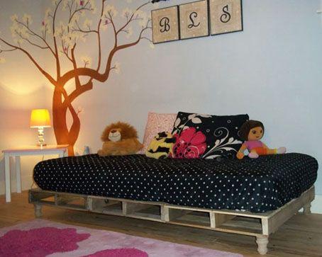 10 proyectos con palets para decorar dormitorios infantiles-juveniles