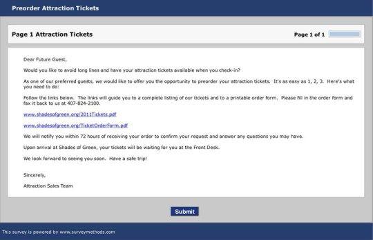 PreOrder Attratction Tickets