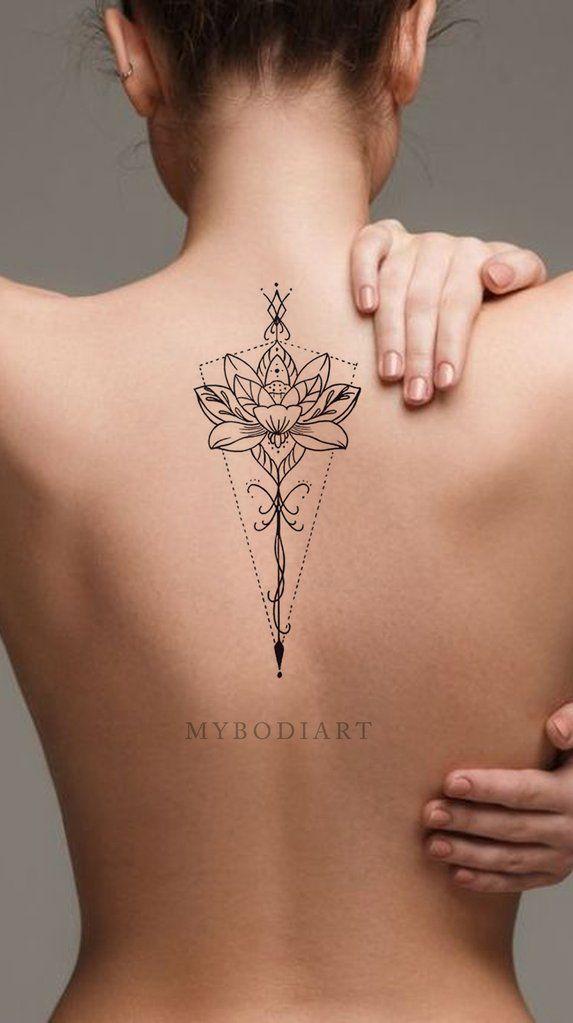 Bohemian Mandala Lotus Spine Tattoo Ideas For Women Back Floral Flower Lily Tattoos Ideas Bohemias D Tattoos For Women Flowers Foot Tattoos Sleeve Tattoos