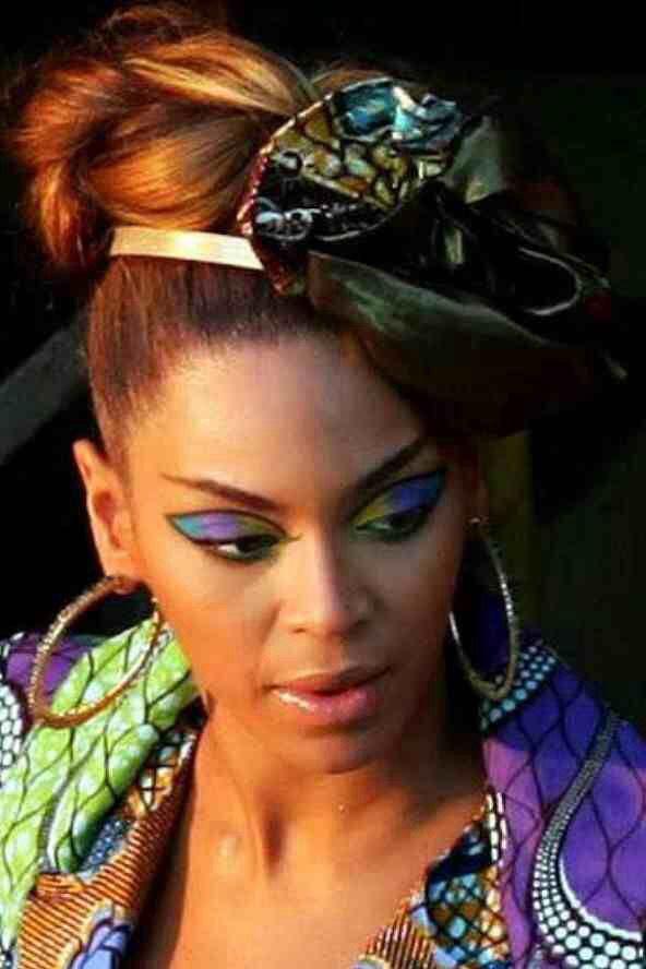 Beyoncé carnival makeup