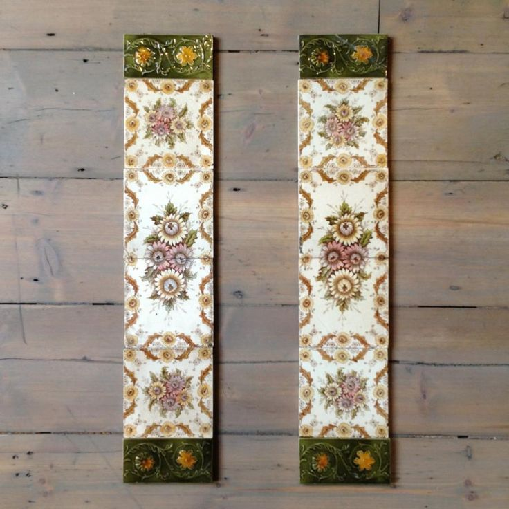 Set of antique Victorian fireplace tiles at thearchitecturalforum.com