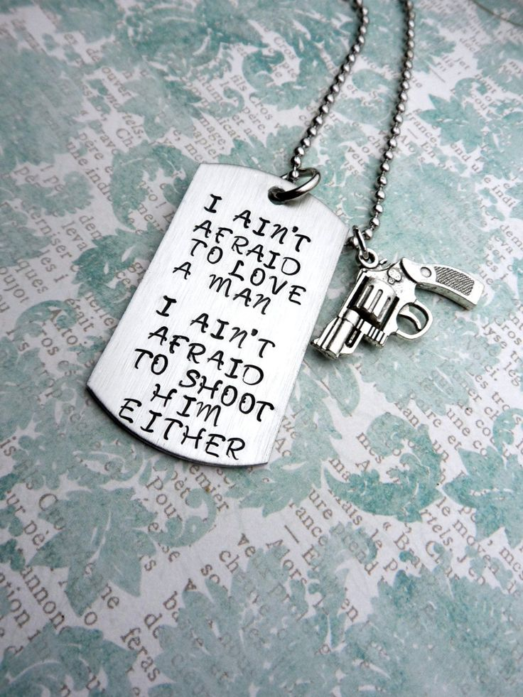 Annie Oakley Quote Necklace I Aint Afraid by HandmadeLoveStories