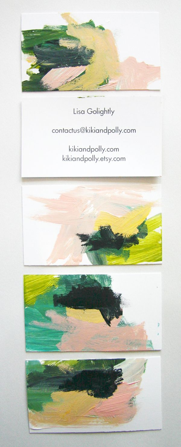 An artist's cool business card