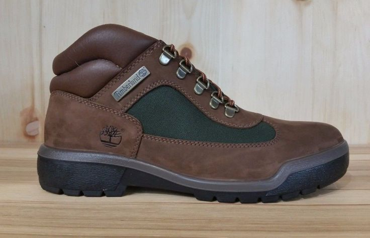 TIMBERLAND FIELD BOOT BROWN-GREEN BOOTS BEEF AND BROCCOLI  SZ 9-13  10025 L