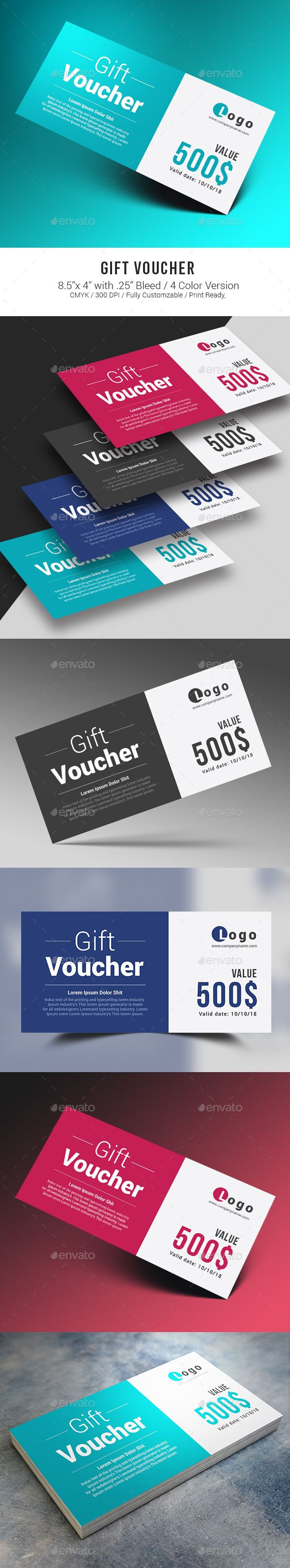 26 best gift voucher design images on pinterest box design gift voucher flyer templatepsd yadclub Image collections