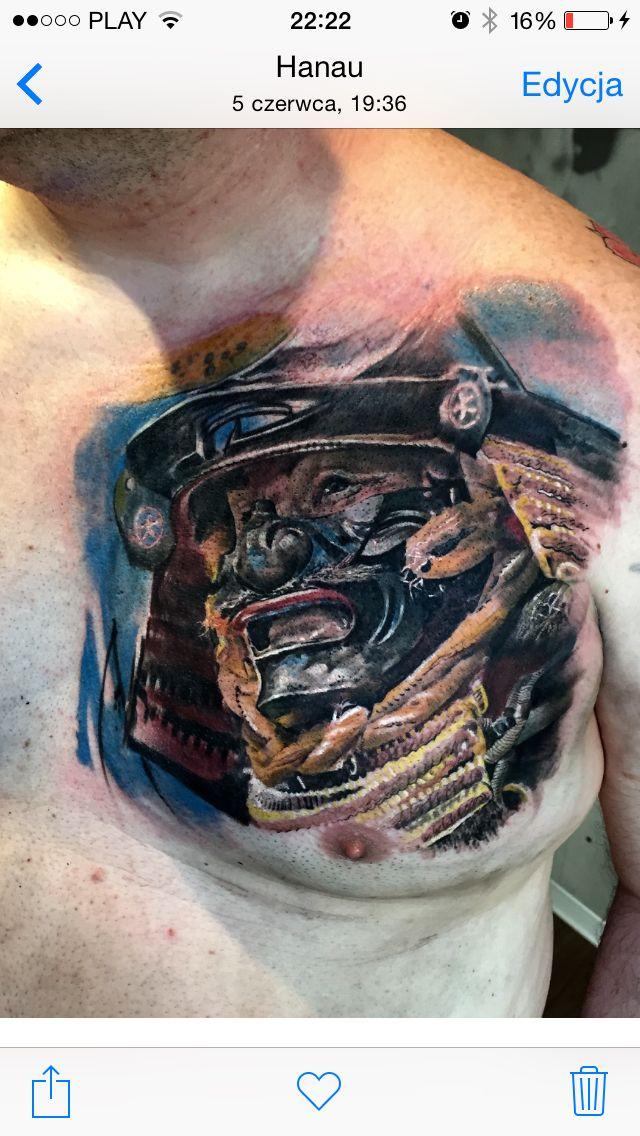 Samurai Tattoo.  Artist Dominik Szymkowiak. Artline studio. www.arttattoo.pl