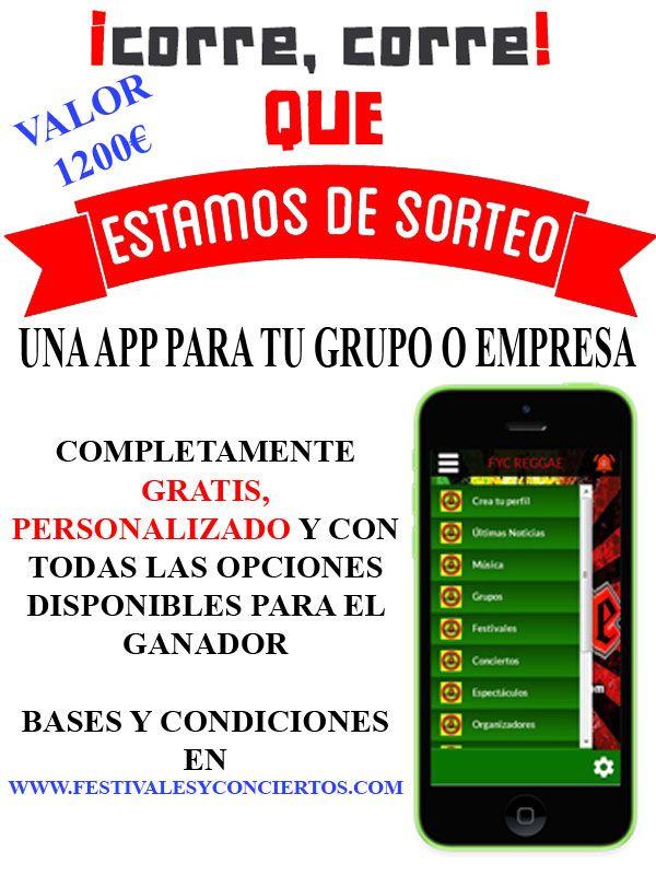 sorteo app música, app música gratis, aplicación música, app grátis, app de musica