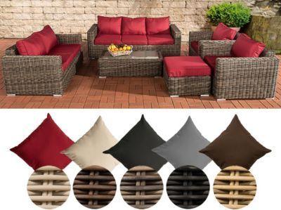 Poly Rattan Loungemobel Set MADEIRA XL 3er Sofa 2er 2x Sessel Hocker Tisch 110 X 60 Cm Jetzt Bestellen Unter