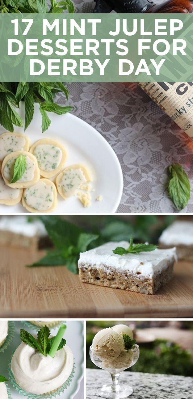 7 Delightful Mint Julep Desserts For Derby Day  Whats even more fun than watching horses run really fast? Eating ice cream with bourbon in it.