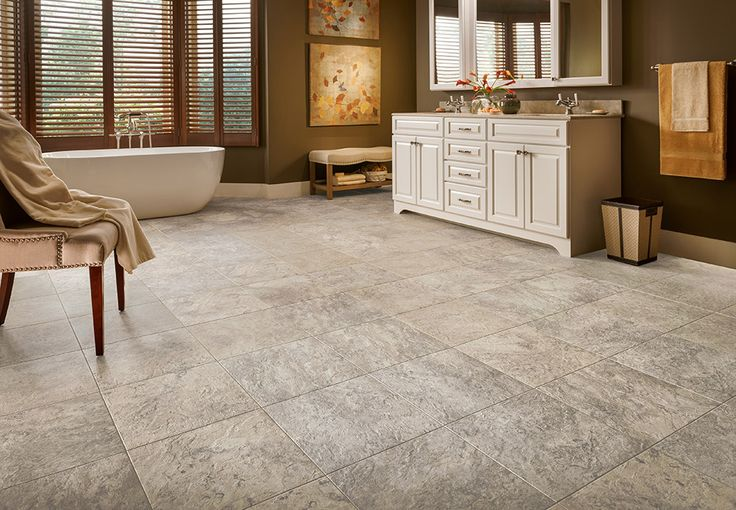 Armstrong luxury vinyl tile lvt gray beige for Armstrong homes price per square foot