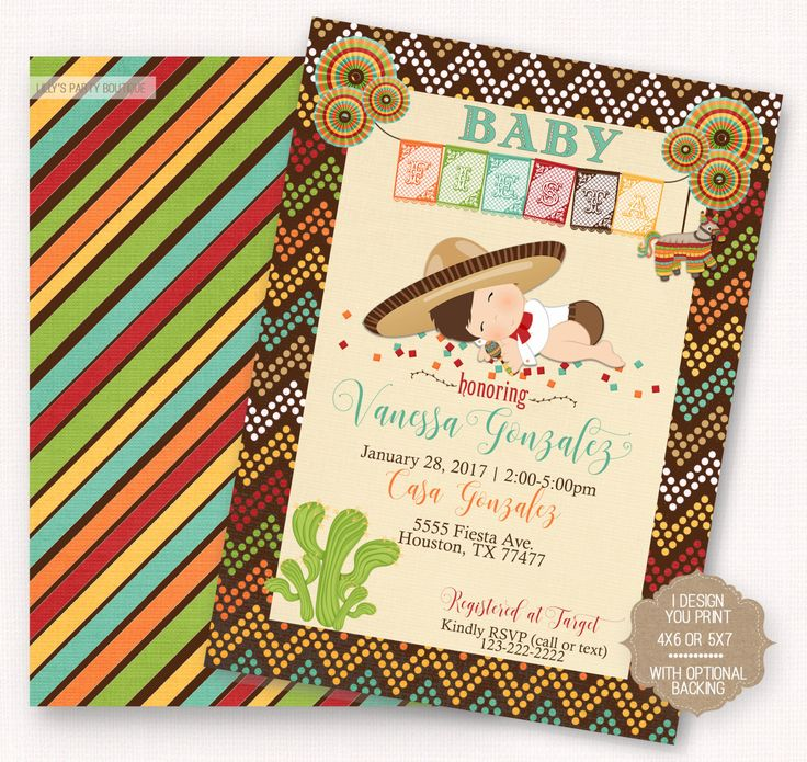 A personal favorite from my Etsy shop https://www.etsy.com/listing/484018698/printable-fiesta-baby-shower-fiesta