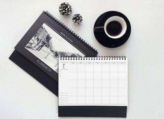 Modern Desk Calendar / Modern Classic Desk Calendar / by DubuDumo, $13.70