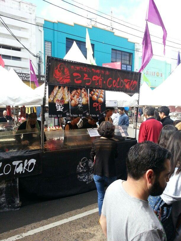 Korean food stand