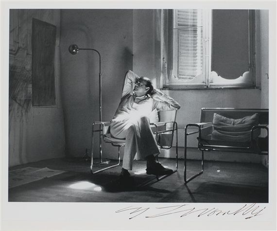 Cy Twombly, (Portrait of Cy Twombly),1978~silver print Flush