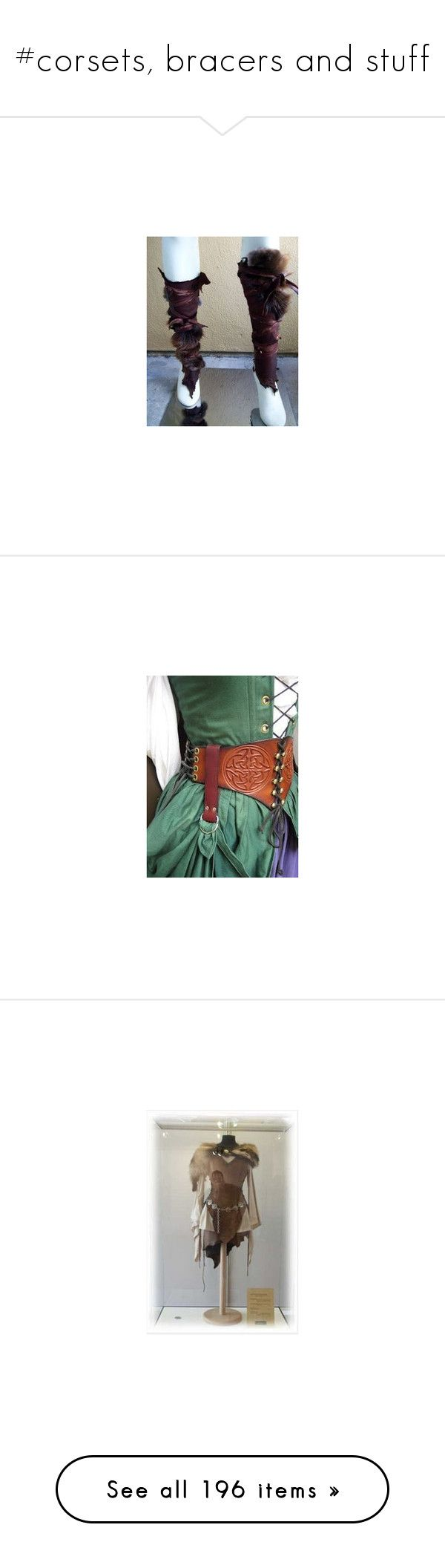 """#corsets, bracers and stuff"" by ronnie-555 on Polyvore featuring disco costumes, party halloween costumes, ladies costumes, party costumes, disco party costume, outerwear, jackets, cropped moto jacket, suede moto jacket and brown cropped jacket"