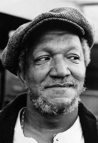 "Comedian Redd Foxx, who played the raffish junkman Fred Sanford in the NBC comedy series ""Sanford & Son,"" is seen in an undated photo, 1973."