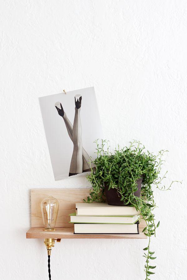 floating shelf with built-in lighting | DIY via coco kelley