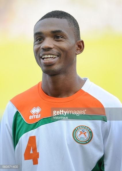 Kader Amadou of Niger during the 2012 African Cup of Nations Group C match between Gabon and Niger at the Stade de l'Amitie in Libreville Gabon Photo...